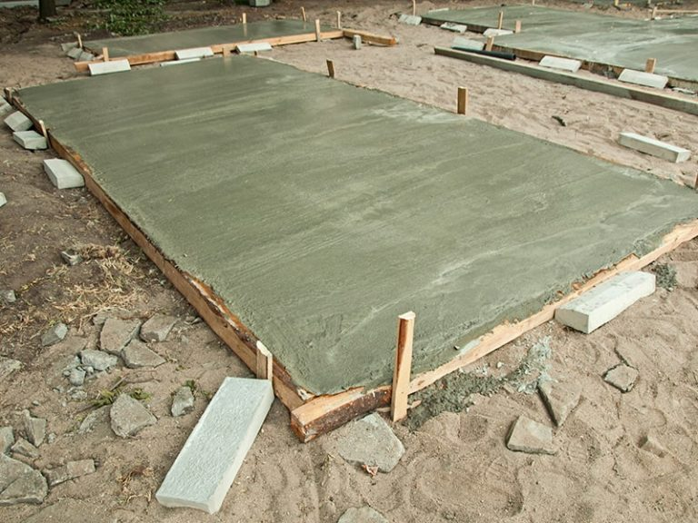 drying out concrete slab on the gold coast