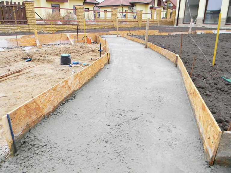 Ongoing concrete driveway project on the Gold Coast