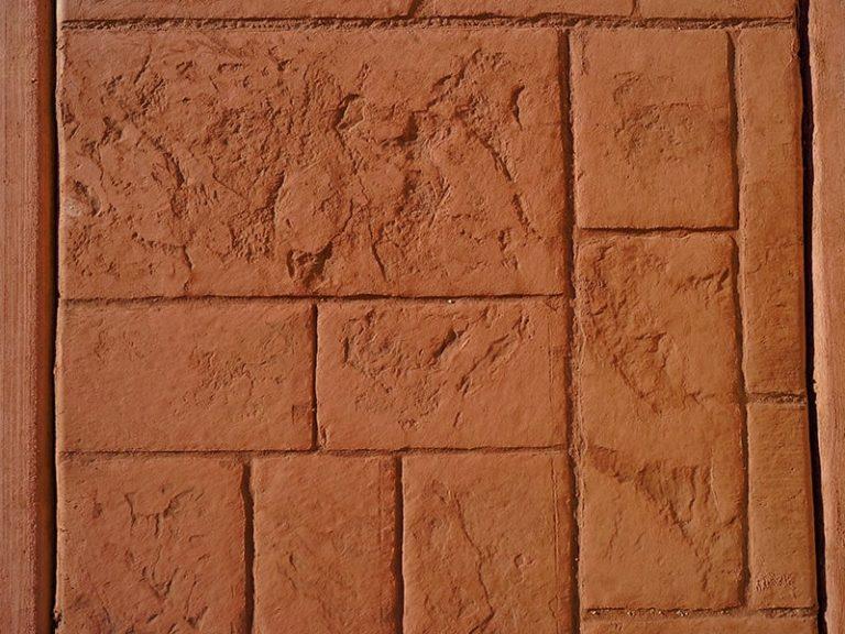 Stenciled Concrete driveway sample