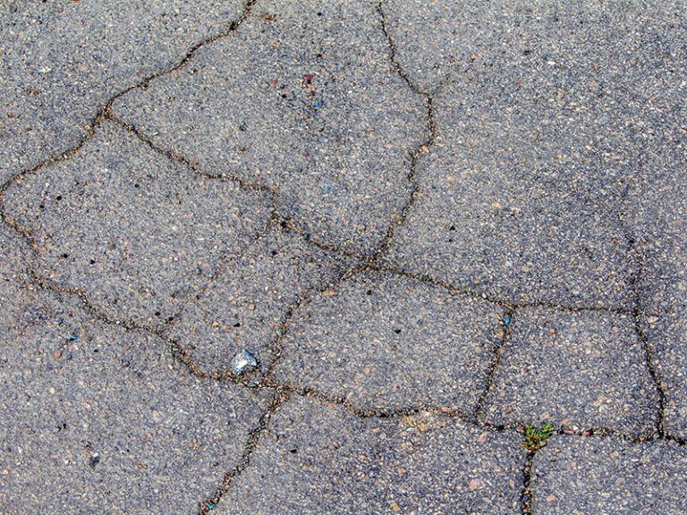 Cracked Concrete on the Gold Cooast